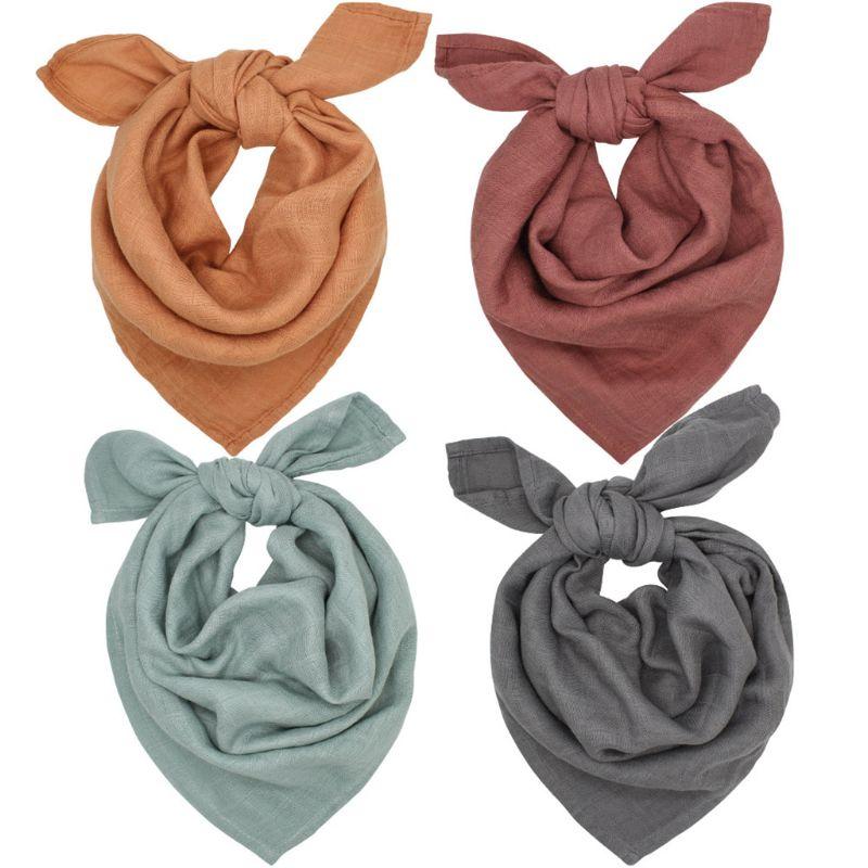 Babero de algodón de bambú, Bandanas de doble capa, paños de eructo, suave, transpirable, bufanda para recién nacidos, toalla de Saliva