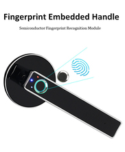 цена на WAFU Smart Handle Lock Fingerprint Biometric Keyless Electronic Door Lock Security Lock