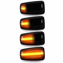 2x płynący sygnał skrętu Led dynamiczny boczny znacznik światła bocznego dla Peugeot 106 306 406 806 EXPERT 1 2 dla Fiat Scudo Ulysse
