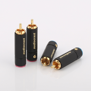 Image 1 - Palic High Quality Gold Plated RCA Plug Lock Collect Solder A/V Connector HIFI Connector for DIY cable diameter