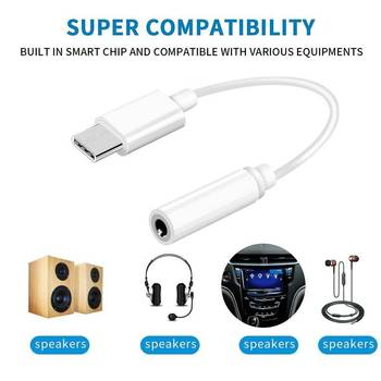Type-C To 3.5mm Earphone Cable Adapter Usb 3.1 Type C USB-C Male To 3.5 AUX Audio Female Jack for Xiaomi 6 Mi6 Letv 2 Pro 2 Max2 image