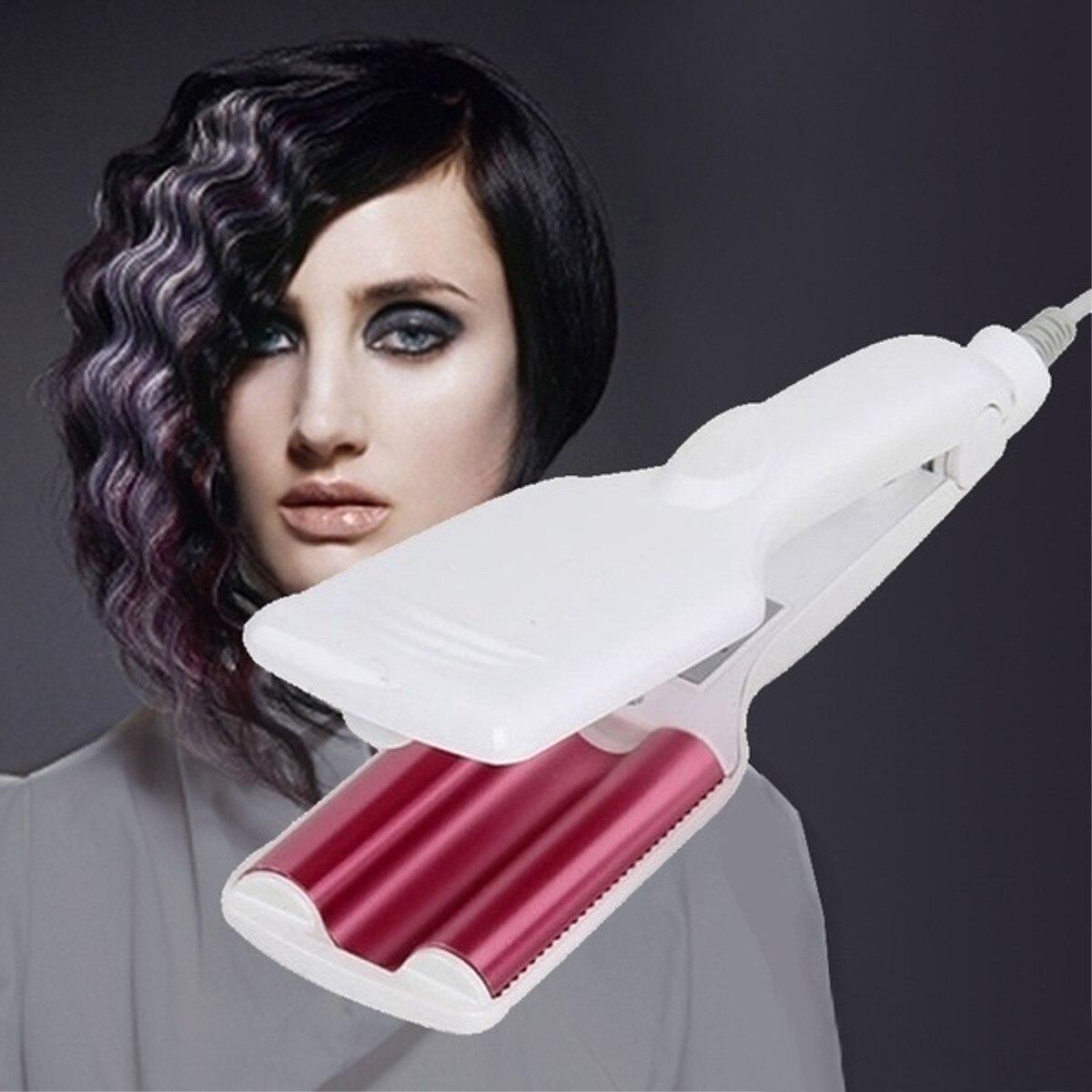 Professional Hair Curling Iron Ceramic Hair Wave Tool Triple Barrels Hair Waver Curl Deep Wave Curler Perm Splint Styling Tools