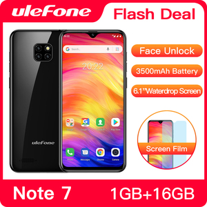 Image 1 - هاتف Ulefone Note 7 الذكي 3500mAh 19:9 رباعي النواة 6.1 بوصة شاشة قطرة الماء 16GB ROM الهاتف المحمول WCDMA الهاتف المحمول Android8.1