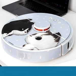 Image 4 - Adesivo fofo para robô aspirador de pó xiaomi, 1 película protetora, peças de limpeza de papel, sem escova