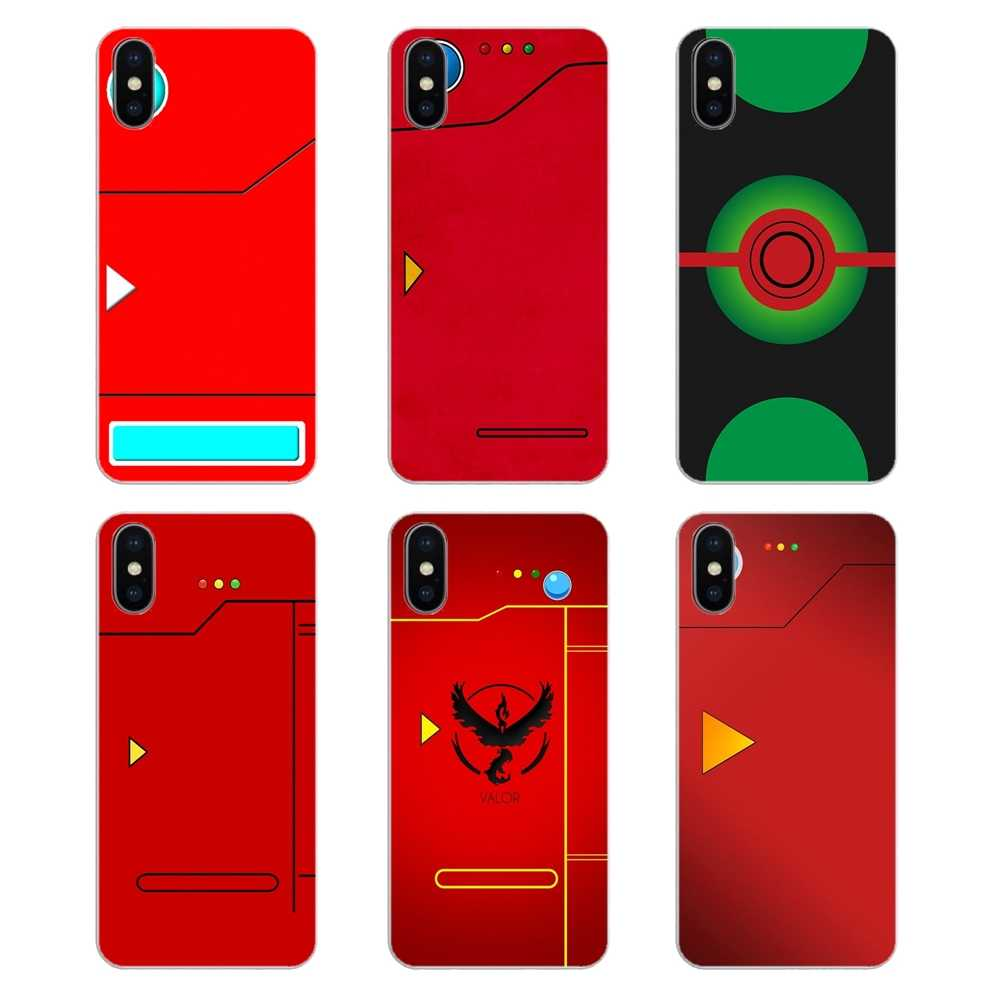 For iPod Touch iPhone 4 4S 5 5S 5C SE 6 6S 7 8 X XR XS Plus MAX Transparent Soft Cases Covers Pour Red Pokedex Alt Art Poster