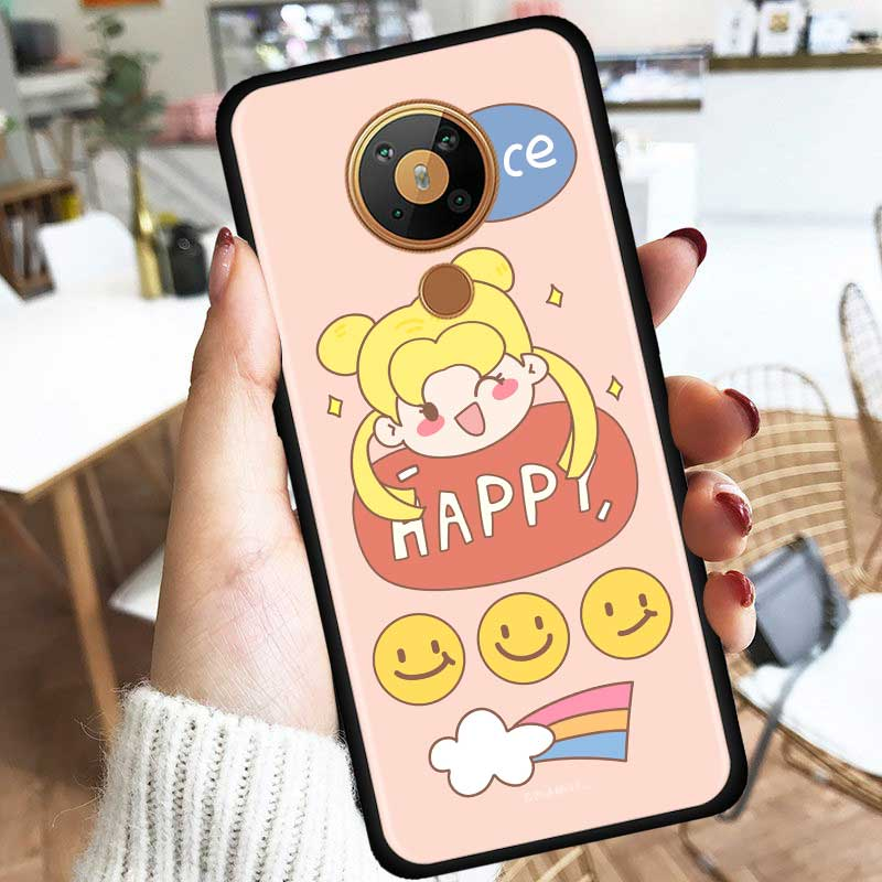 Pink Sailor Moon Silicone Phone Case For Nokia 2.2 2.3 3.2 4.2 7.2 1.3 5.3 8.3 2.4 3.4 C3 C2 1.4 5.4