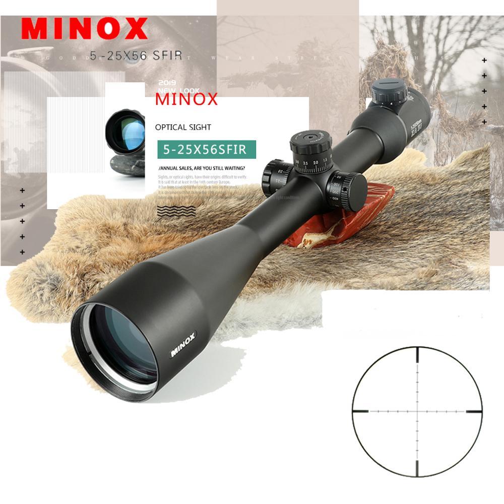 MINOX 5 25X56SFIR тактический прицел с красной подсветкой Прицел снайперской винтовки оптический прицел охотничьи прицелы для винтовки для Airgun