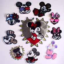 Pulaqi Cartoon Embroidered patches for Clothing DIY Sewing On Patches For Clothes Cute Patch Applique Stripe on Sticker
