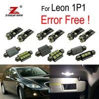 12 adet 100% hata ücretsiz LED İç okuma dome harita elektrik ampulü kiti koltuk aksesuarları Leon MK2 1P 1P1 (2005-2012)