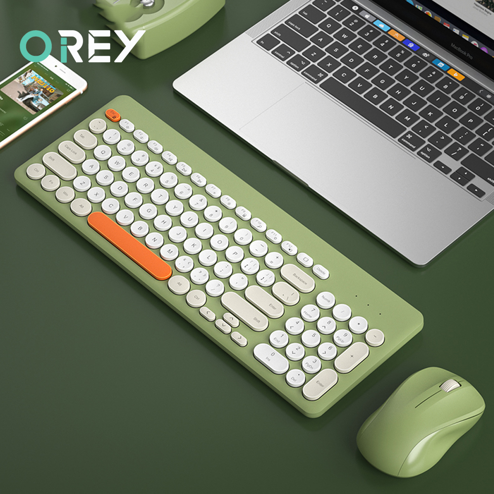 2.4G Wireless Gaming Keyboard and Mouse Set Round Keycap Silent Wireless Keyboard Mouse For Computer Laptop PC Gamer Accessories