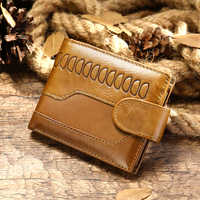 Herren brieftaschen luxus mens echtes leder brieftasche männer kurze mann brieftasche hohe qualität leder männer geldbörse neue porte feuille homme cuir