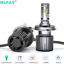 OLPAY 2PCS H4 H7 Led Car Headlight H1 H8 H9 H11 HB4 HB3 9006 9005 9012 CSP Chip 10000LM 60W 6000K 12V Car Light Auto Fog Lamp ev12 car headlight led h7 h4 h1 9005 hb3 9006 hb4 h11 60w 6000lm auto dob led lamp 12v ice blue car light plug and play