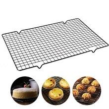 La Red para hornear bandeja de acero inoxidable rejilla de enfriamiento antiadherente de refrigeración para galletas pastel de pan rejilla para repostería 40x25x2cm