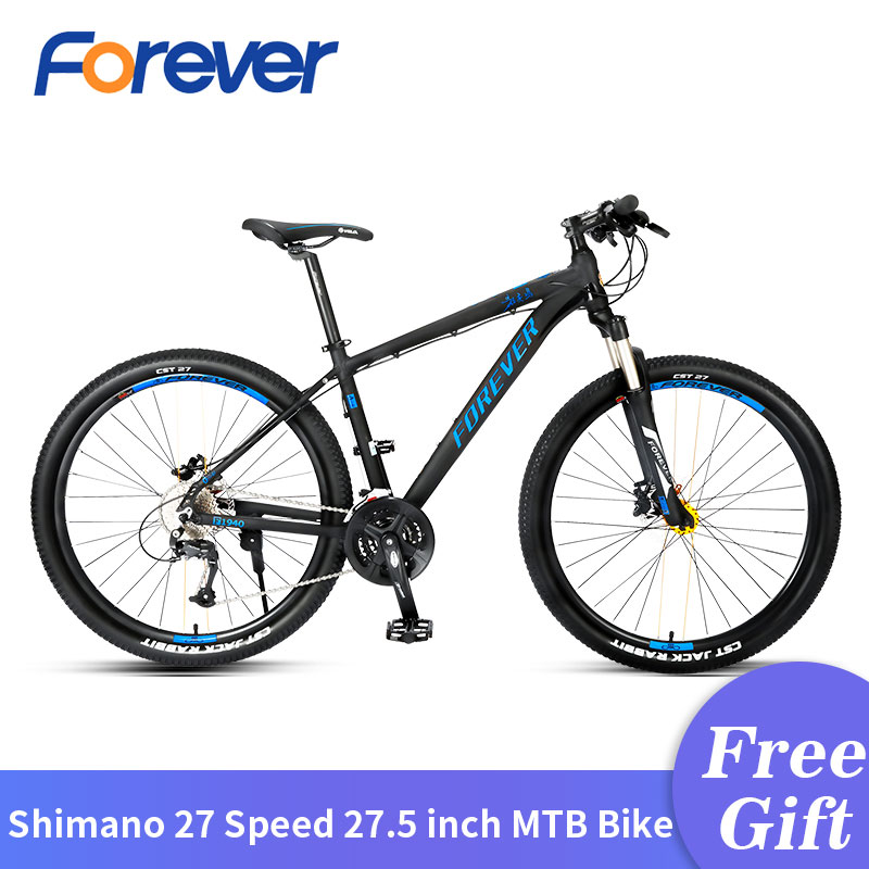 Forever Mountain Bike 27 Speed Double Hydraulic Disc Brake  Lightweight Aluminum Alloy Bicycle Men 27.5 Inch Cycling MTB Bike