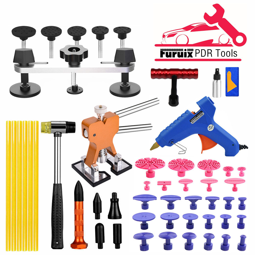 PDR Paintless Dent Tools Car Body Repair Hail Removal Dent Repair Kit Bridge Puller Lifter Tool