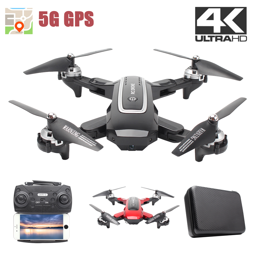 5G GPS Rc Drone with4K double caméra HD WiFi FPV débit optique 1080P grand Angle pliable quadrirotor Mini Dron professionnel Drone
