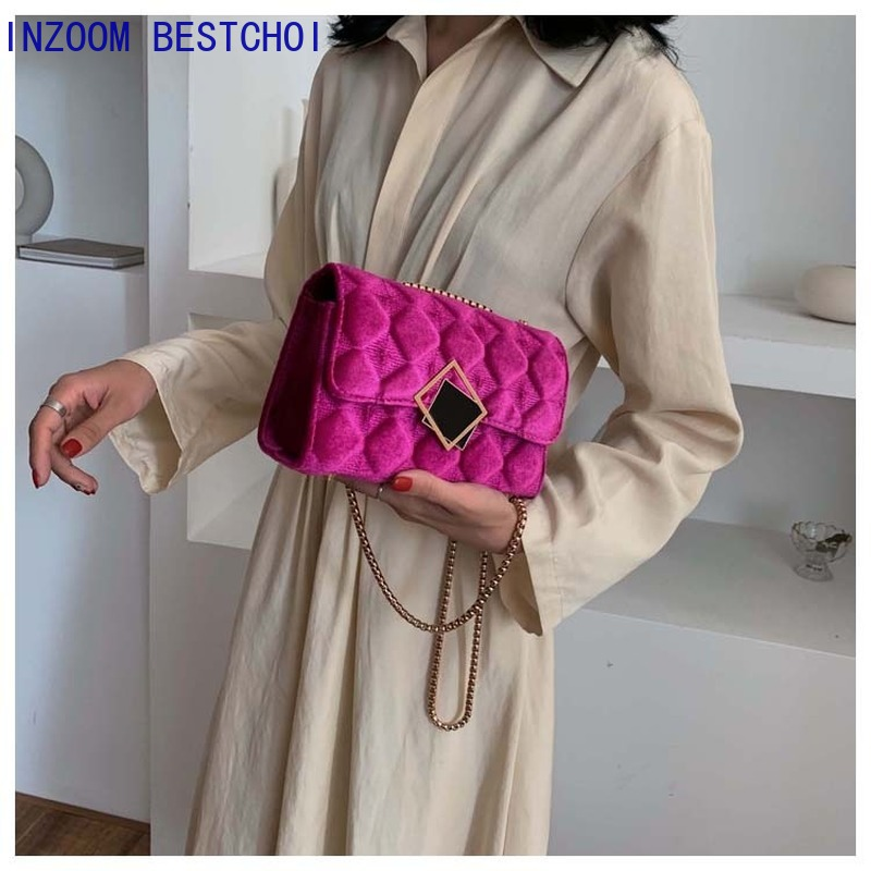 Quality Plush Crossbody Bags For Women Designer Small Handbags Chain Shoulder Messenger Bag Mini Purses Hand Bag