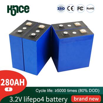 32 sztuk 3 2V 280Ah bateria LiFePO4 litowo fosfa duża pojemność DIY 12V 24V 48V samochód elektryczny RV system magazynowania energii słonecznej tanie i dobre opinie PWOD Li-ion CN (pochodzenie) Tylko baterie Pakiet 1 32PCS 173 2*72 4*200*208mm lithium iron phosphate cell Aluminum 2 5 v
