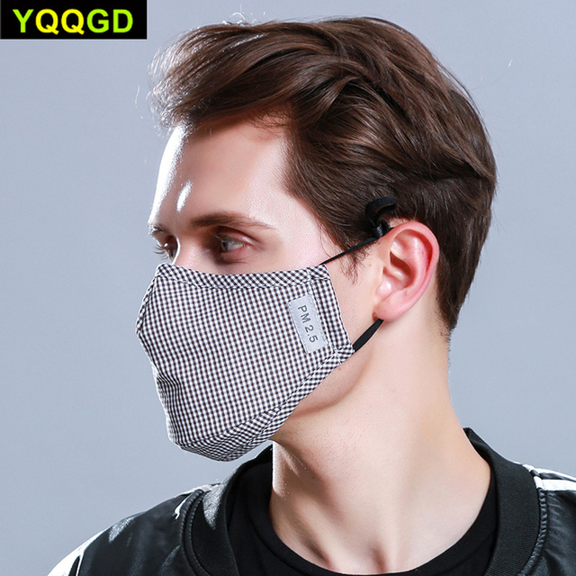 1Pcs Multi Color Cotton PM2.5 Black mouth Mask anti dust mask Activated carbon filter Windproof Mouth-muffle bacteria proof Flu 3