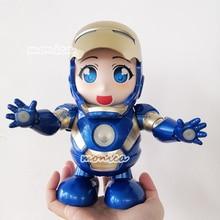 NEW Marvel Avengers Toys Dance Hero Iron Man Thanos Action Figure Toy Led Flashlight Sound Iron Man