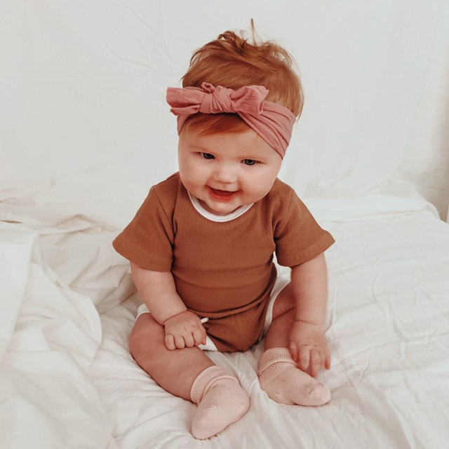 2Pcs Baby Clothes Summer Toddler Infant Girls Boys Clothes Cotton Casual Short Sleeve Tops T-shirt+Shorts Baby Outfit Set 2