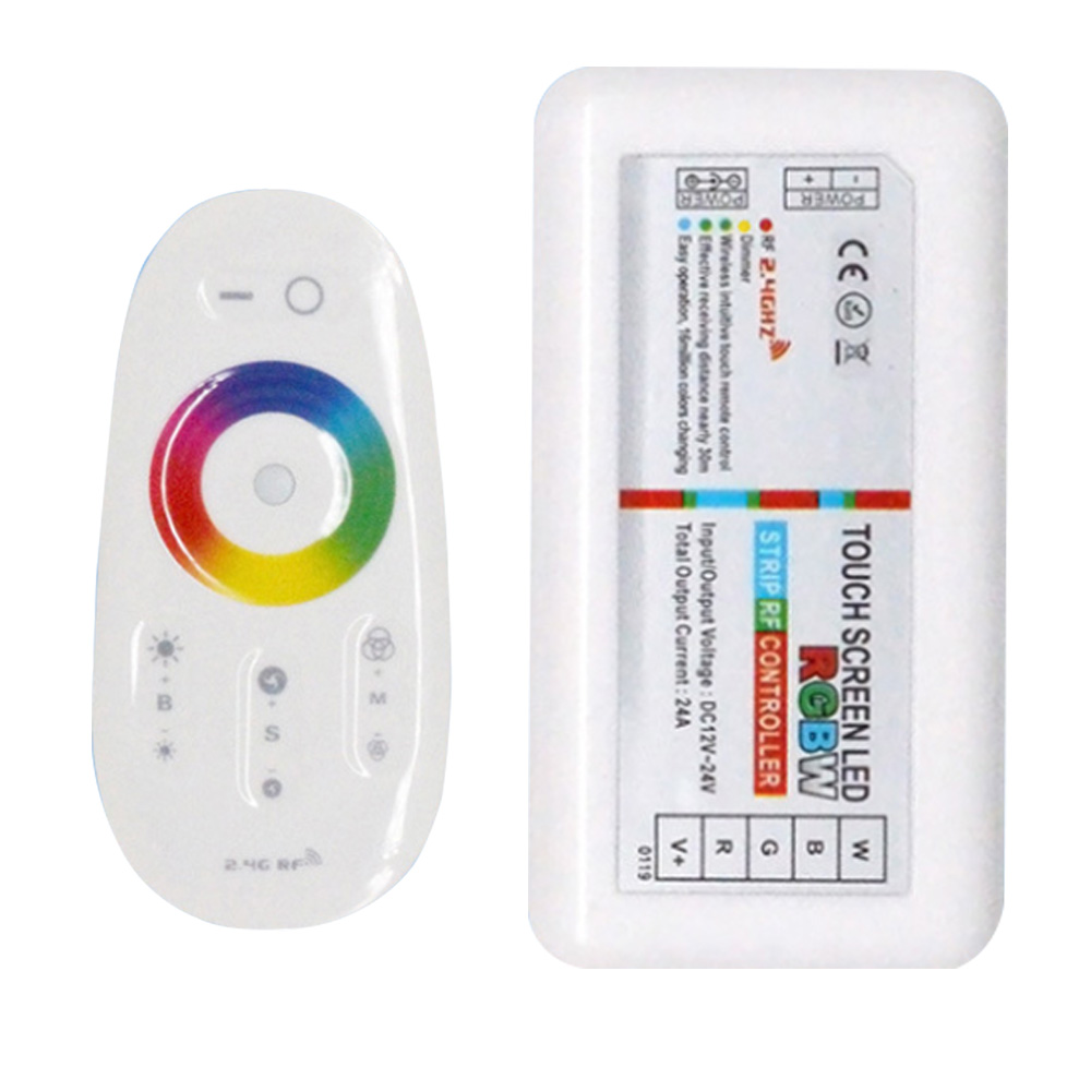 Touch Screen LED RGB / RGBW Controller 2.4G Wireless DC12-24V RF Remote Control For RGB /RGBW LED Strip