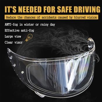 Universal Anti-fog Rainproof Patch Lens Clear Visor Sticker Helmet Film For Motorcycle Helmets Motocross Protective Accessories 1