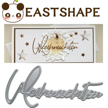 Eastshape Germany Letter Metal Cutting Dies for Scrapbooking Stencil Background Troqueles Die Cut Craft Stitch New 2019