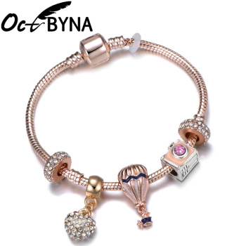 Hot Air Balloon Camera Charm Bracelet For Women Jewelry Gift 1