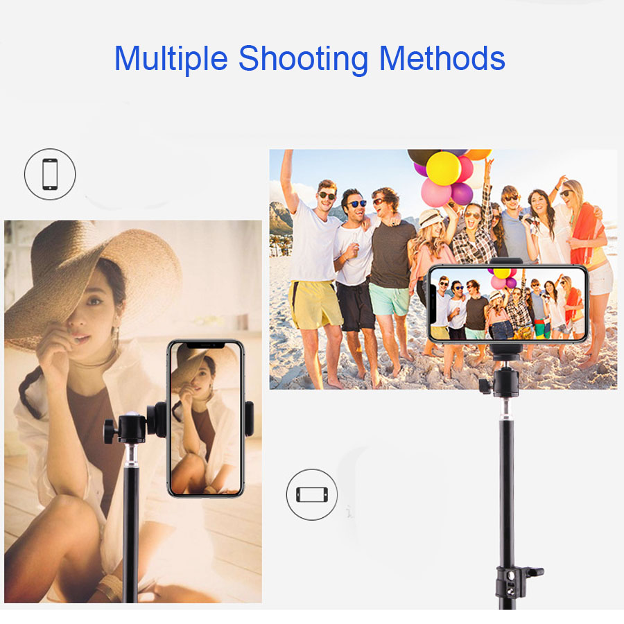 Aluminum Tripod With Bluetooth For iphone Gopro Xiaomi Huawei Cell Phone Live Photography Selfie Tripod For Tiktok Vlog Camera