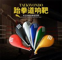 цена Adult Taekwondo Ring Target Chicken Legs Target Training Game Thick Embossed Leather Taekwondo Target a Molding Inner Wearing Ta онлайн в 2017 году