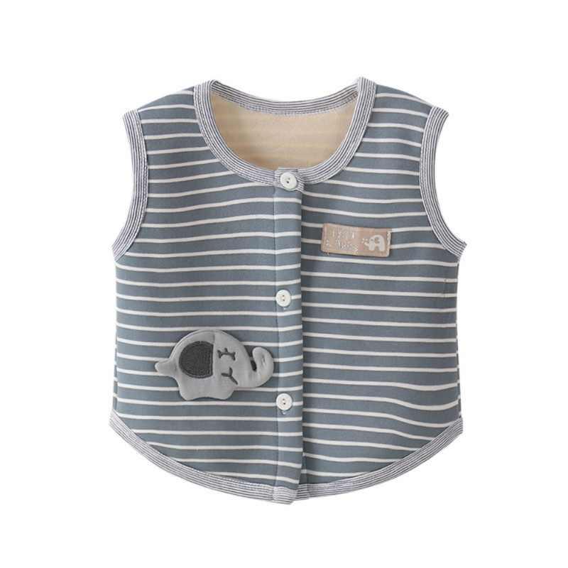 Ropa de bebé sin mangas bebé chaleco abrigo invierno espesar ropa para niños niña niño ropa abrigo a rayas estampado A1
