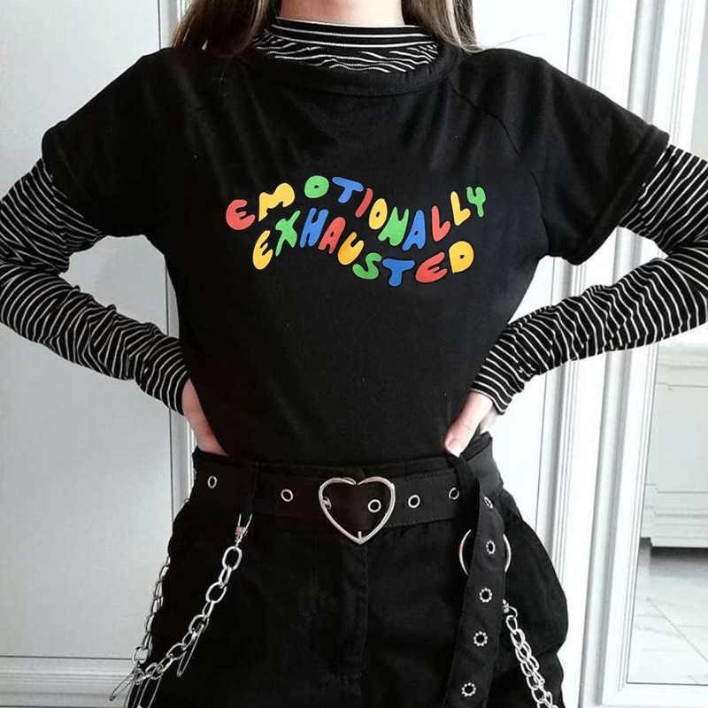 새로운 하라주쿠 고딕 여성 Tshirt 미켈란젤로 손 반팔 탑 & 티 패션 캐쥬얼 T 셔츠 여성 의류 티셔츠