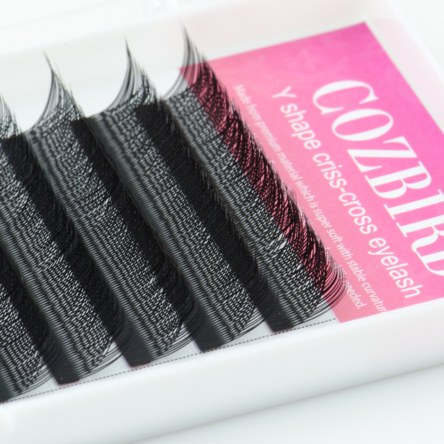 COZBIRD YY LASH Y shape eyelash extension supplies 0.07 Easy fanning Volume lash Flase lashes Faux mink 12 rows cilios 5
