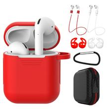 7 in 1 Strap Holder & Silicone Case Cover for Apple Airpods for Air Pod Earpods Accessories r15(China)