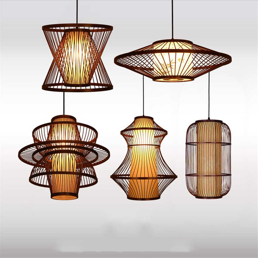 China Vintage Wooden Led Pendant Lights Lighting Loft Home Interior Decoration Bamboo Wooden Pendant Lamp Indoor Hanging Lamp Pendant Lights Aliexpress