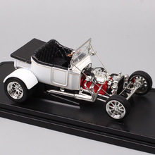 1/18 Road Signature Classic Vintage 1925 Ford T-Bucket T Model A Top Up Diecasts Toy Vehicles Scale Car Model Miniatures Gifts