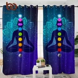 Beddingoutlet Hippie 7-Chakra Màn Thiền Thiền Mất Điện Màn Nhiều Màu Sắc Mạn Đà La Hoa Cao Cấp Màn Ảo Giác Rideaux