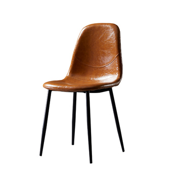 Nordic Light Luxury Dining Chair Household Iron Industry Style Retro Backrest Ins Desk Simple Modern Designer Chair