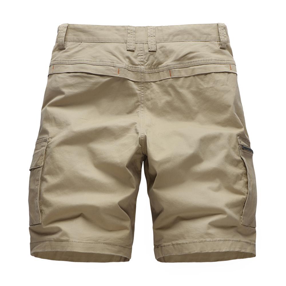 2020 New Men's Urban Military Cargo Shorts Cotton Outdoor Short Pants High Quality Khaki Shorts