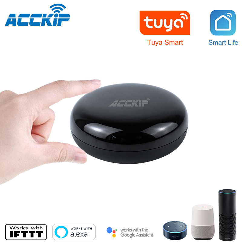 ACCKIP Smart IR Remote Controller Infrared Universal Tuya Smart Life APP Control for All TV DVD Works with Alexa Google Home image