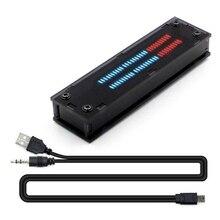 New Dual 30 bit Full Color LED Audio Level Indicator Panel VU Meter For AmpliferProduct
