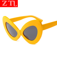 ZT Oversize Women Butterfly Sunglasses Fashion Ladies Bow Shape Shades UV400 Retro Ladies Eyeglasses