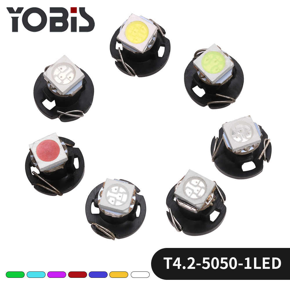 1PCS LED โคมไฟ T4.2-5050-1 หลอดไฟเครื่องปรับอากาศนาฬิกาโคมไฟโคมไฟ Refitted จากรถยนต์เครื่องมือ