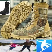 Tactical-Boots Men Mili Hiking-Shoes Desert-Combat High-Top Lace-Up Retro Waterproof