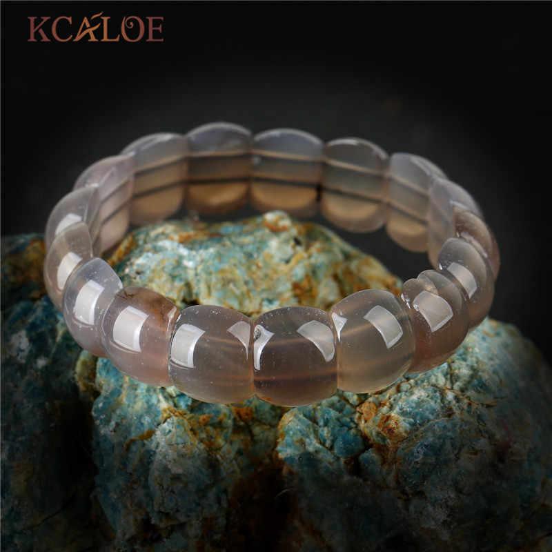 KCALOE Charm สีชมพูควอตซ์กำไลข้อมือกำไลข้อมือกำไลข้อมือโยคะเครื่องประดับความยืดหยุ่นลูกปัดสร้อยข้อมือหินธรรมชาติสำหรับผู้หญิง Braslet