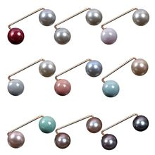10 Pcs/pack Charm Lady Women Boutonniere Imitation Pearl Scarf Buckle Accessories Pin Simple Wild Anti-light Brooch 2019fashion 1pc woman girl imitation pearl brooch classic charm high quality accessories simple double pearls brooches all match