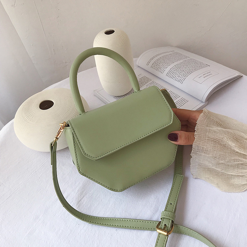 Fashion Pure Color women's handbag Simple flip bag Lady PU leather single shoulder inclined bag 2019 new style