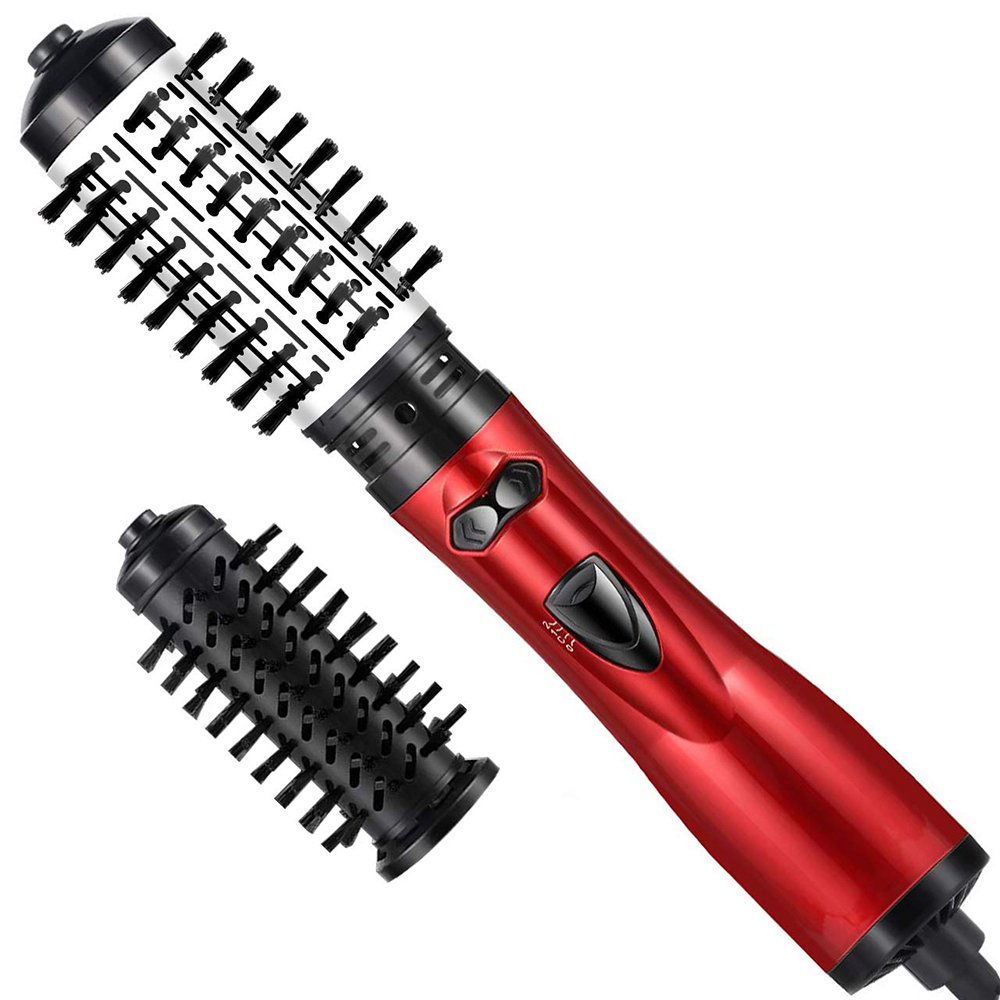 2In 1 Multifunctional Electric Hot Hair Brush Roller Rotate Styler Comb Straightening Curling Iron Hair Styling Tools VIP Link