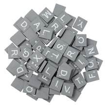 100 adet gri doğal yüksek kaliteli ahşap cips DIY 26 İngilizce harfler kelimeler alfabe bulmaca okuryazarlık kutusu bebek entelektüel ahşap